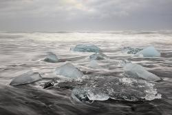 Ice on the Lava Beach